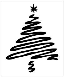 christmas tree on reusable 7mil laser cut stencil