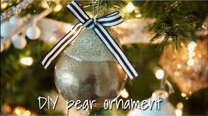 diy glam pear ornament 2016 dollar tree supplies