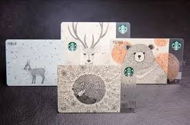 starbucks christmas gift cards korea 2016 starbucks cards endangered animals woodland set see