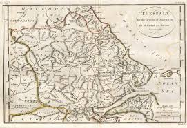 Map Of Ancient Greece Image 1788 Bocage Map Of Thessaly In Ancient Greece The Home
