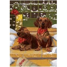 dachshund christmas cards the danbury mint