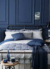 Navy Bedroom Beautiful Blue Bedroom Design With Paneled Walls Wall Panels