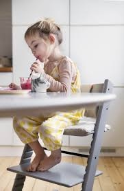 Right Chairs And Table Stokke Tripp Trapp Chair Pulls Right Up To The Family Table