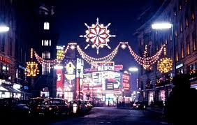 all about london christmas past regent street 1963 looking at