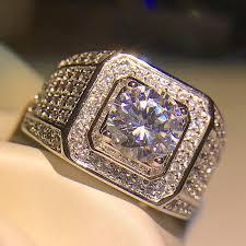 women big rings images Junxin 90 off male female big ring inlay white zircon crystal wide jpg