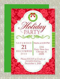 christmas party microsoft word invitation template christmas