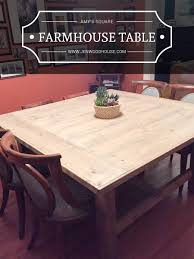 Free Wooden Table Plans by How To Build A Diy Square Farmhouse Table Plans