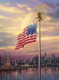 1100 The Flag Light Of Freedom The U2013 Limited Edition Art The Thomas Kinkade