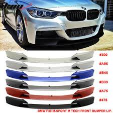 bmw f30 front spoiler 12 16 f30 m performance front bumper lip chin spoiler painted all