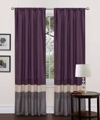 Curtains With Purple In Them Overstock These Attractive And Black Curtain Panels Are The