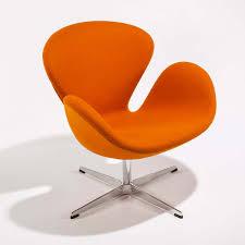 Swan Chair Leather Arne Jacobsen Orange Swan Chair Mid Century Modern Arm Chair