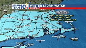 New England On The Map Winter Storm Watch For Southern New England Thursday Wjar