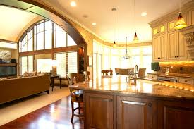 open floor plan kitchen kitchen luxurious orang color scheme open floor plan ripping