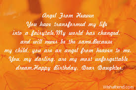 from heaven birthday poem