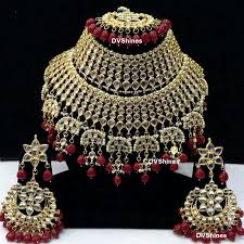 bridal necklace images Wonderful maroon beads kundan bridal necklace dv shines jewellery png