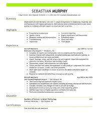 Aviation Resume Template Automotive Technician Resume Examples Resume Example And Free