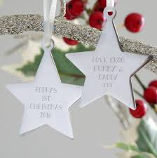 personalised baby u0027s first christmas star decoration by the