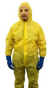 hazmat suit halloween costume yellow hazmat jumpsuit walter white chemical cook