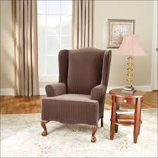 Queen Anne Wingback Chair Furniture Marvelous Slipcover For Queen Anne Wingback Chair Sure