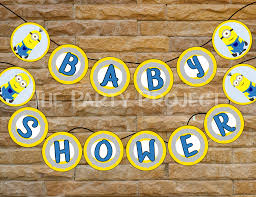 minions baby shower diy printable minions baby shower banner despicable me party