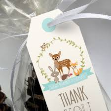 woodland baby shower favor tags woodland party favors u2013 sunshine