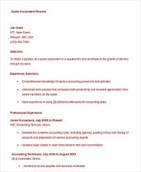 outstanding accountant resume sample for junior and senior