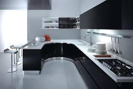 Black And White Contemporary Kitchen - red black white kitchen decor modern and kitchens 2015 accessories