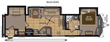 Rv 2 Bedroom Floor Plans New 2014 Keystone Rv Residence 406fb Destination Trailer At
