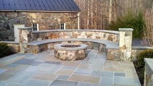 Patio With Firepit Modren Flagstone Patio With Fire Pit Tags Boulder Retaining Wall
