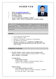 Biomedical Engineering Resume Samples by Biomedical Engineer Cv 1