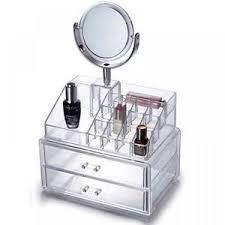 Clear Vanity Table Clear Acrylic Drawers Cosmetic Makeup Display Storage Vanity Table