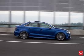 slammed audi a3 2015 audi s3 sedan stanced on vossen wheels autoevolution
