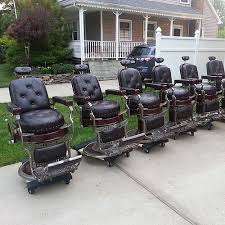 Old Barber Chair Avail Chairs Antique Barber Chair Restoration U2026 Flickr