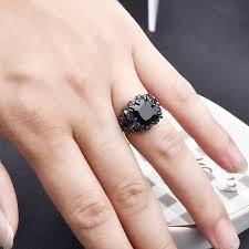 cool finger rings images Dalaran women 39 s cubic zirconia skull rings black claw gothic band jpg
