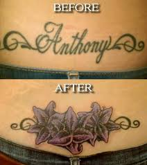 25 trending cover up name tattoos ideas on flower