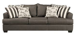 back sofa levon contemporary charcoal fabric pillow back sofa living rooms
