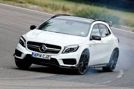 mercedes 45 amg white mercedes gla45 amg tested is this 355bhp crossover worth