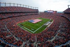 Flag Of Denver Horse Tracks Inside The Denver Broncos Flag Ceremony Mile High