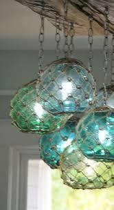 glass fishing float pendant light vintage glass fishing float light fixture with 3 floats lights