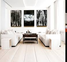 black and white wall decor triptych painting wood wall