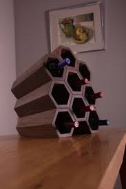 hand crafted honeycomb wine rack by gary moore furniture