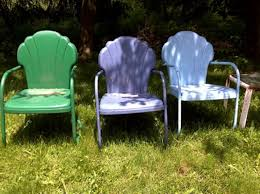 Old Metal Outdoor Furniture by Retro Metal Lawn Chairs Chalk Paint Retro Metal Lawn Chairs