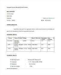 sample resume format for civil engineer fresher fresher computer