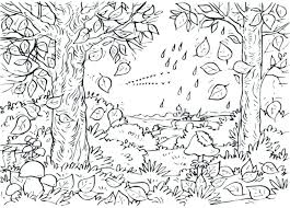 coloring page of fall coloring pictures of fall leaves semwalonwheels com