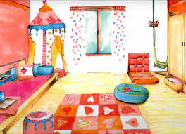 dessin en perspective d une chambre dessin chambre garcon avec chambre d enfant aurelie pillot idees et