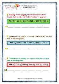 grade 3 maths worksheets 4 digit numbers 1 8 arranging 4 digit