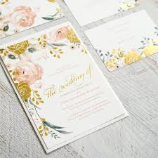 wedding invitations gold foil whimsical gold foil invitations