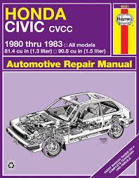 honda civic cvcc 80 83 haynes repair manual haynes manuals