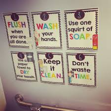 bathroom reminder posters bathroom rules kindergarten and