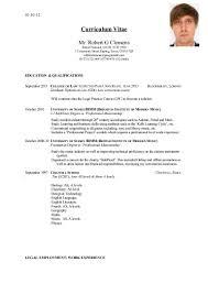 Resume In English Cv English Example Doc Cv In English Example Doc 105645896 Png